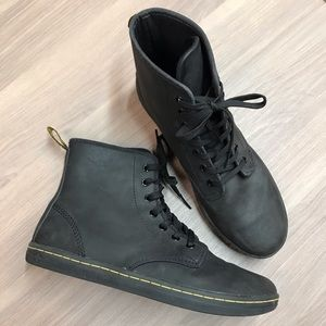 Dr. Martens Black Leather High Top Boots